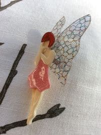 Pretty Butterfly Fairy Brooch by Lea Stein of Paris (Sold)  - this one has a pink sparkly frock!