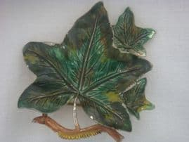 Signed Exquisite Brooch - 1960s Pin - Ivy Leaf Brooch Larger Size Colour - More Blue Green (Sold)