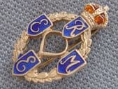 Silver and Enamel REME Sweetheart Brooch  (sold)