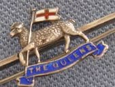 Silver Sweetheart Brooch - The Queen's Royal Regiment (SOLD)