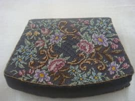 SOLD 1940s Coin Purse - Austrian Petit Point Embroidery
