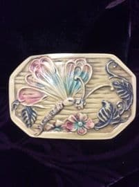 SOLD   Dragonfly or Butterfly Buckle- Celluloid circa 1920s - 1940s