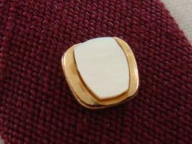 Sophos Vintage Tie Tack - Gold Plated with Mother of Pearl Inlay (sold)