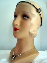 Sparkle! - Victorian Paste Brooch on Glittery New Hair Band