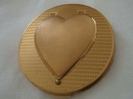 Stratton Compact 1950s Heart Photo Locket Detail (SOLD)