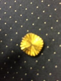 Tie Pin - 1960's -1970's Tie Tack with Star Cut Engraving, Gold Plated Metal - nice chunky finish