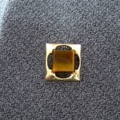 Tie Pin - A large size 1970s Tie Tack set with real Tiger Eye jewel (sold)