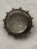 Victorian 19 th Century Locket Back    'MARY'  Brooch with Shepherdess Design