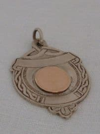 Vintage Celtic Silver Fob with Gold (SOLD)  - Dublin Halllmarks - 1960s