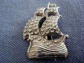 Vintage Galleon Brooch