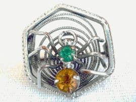 Vintage 'Incy Wincey' Spider Brooch  Circa 1920s - 1930s (sold)