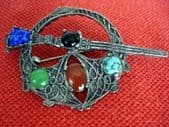 Vintage Miracle Brooch - Celtic Penannular Brooch - A vintage signed 'Sol d'Or' Jewel by Miracle (SOLD)
