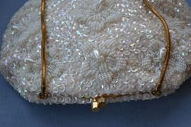 Vintage Pearl Drop Evening Bag- Late 1950s - 1960s Converts to Clutch Purse also (SOLD)