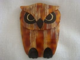 Wise Owl Buba The Owl - Brooch by Lea Stein of Paris (SOLD)