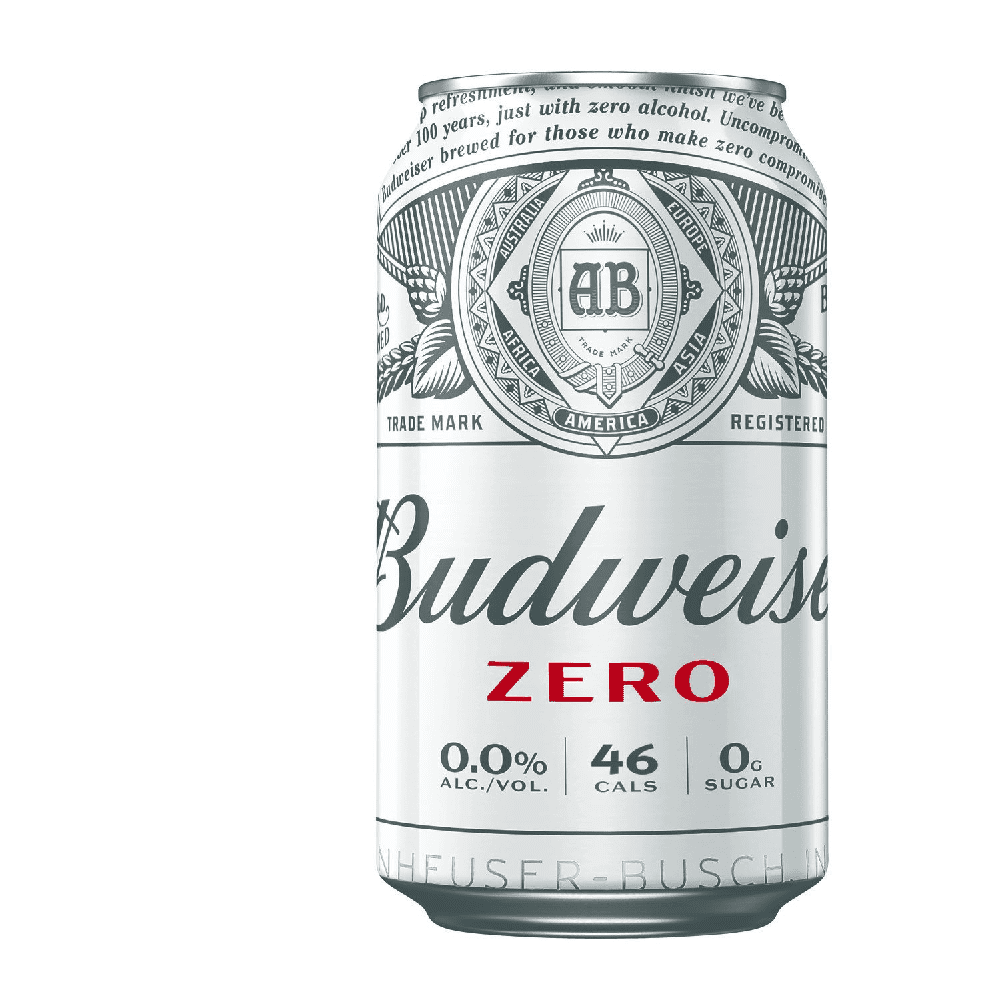 Budweiser Zero Alcohol Free Beer (0.0% ABV)