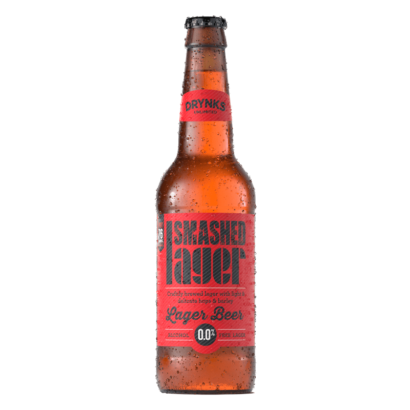 Smashed Lager Alcohol Free Beer (0.05% ABV)