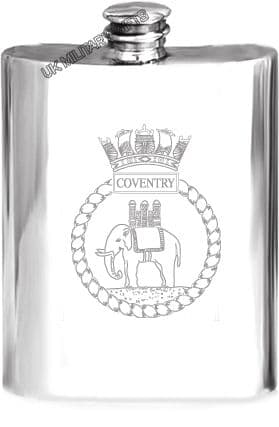 HMS Coventry Pewter Hip Flask