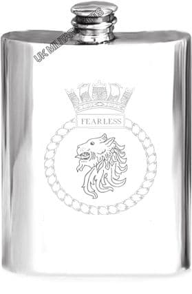 HMS Fearless Pewter Hip Flask