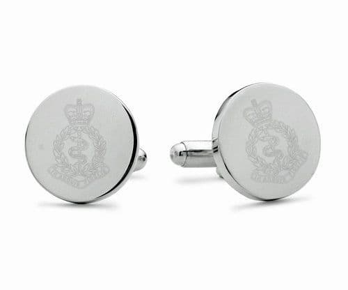 Royal Army Medical Corps Engraved Cufflinks