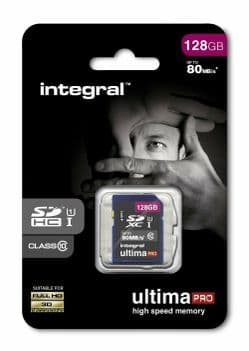 128GB SDXC Card Integral  - Ultima Pro Memory Card   Cables 4 ALL