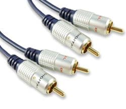 Quality 0.5m RCA Cable - Fully Screened Twin Phono Audio Lead