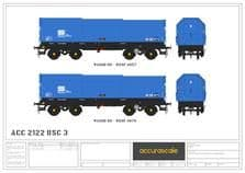 Accurascale ACC2122BSC3 British Steel 'JSA' Covered Steel Coil Carriers, Pack 3