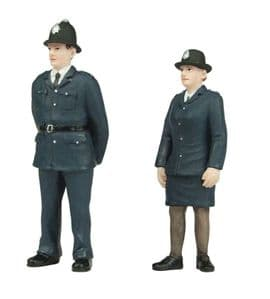 Scenecraft 47-407 Policeman and Policewoman