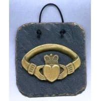 Claddagh ring Irish wall plaque