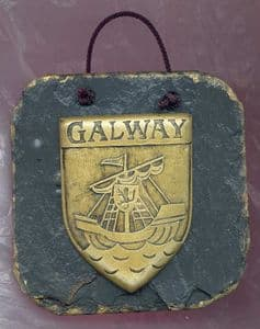 Galway County Crest slate wall plaque