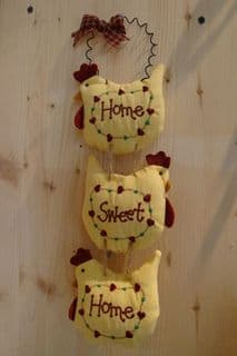 Home sweet home - Fabric Hanger