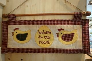 Welcome - Fabric wall hanger