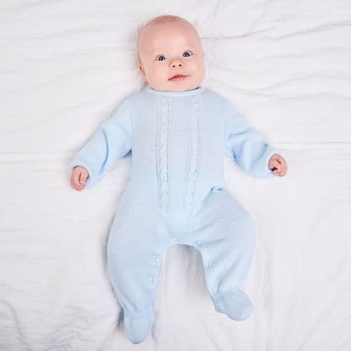 A2623 Cable Knitted Onesie