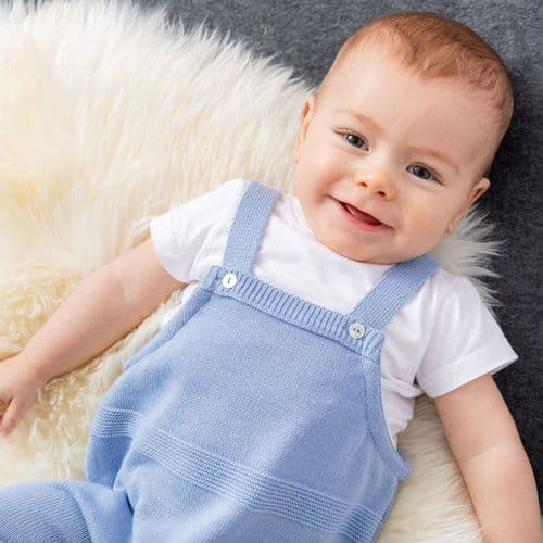 A3006 Dusty Blue Dungaree