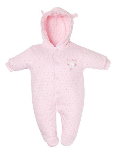Tiny Baby | Bear Cotton pramsuit | Newborn size | Cream |