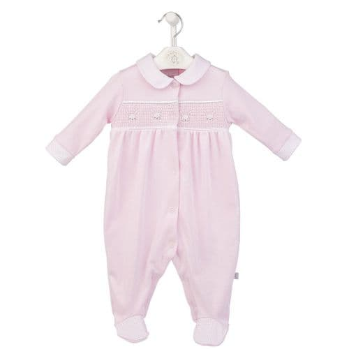 Little Bunnies Smocked Sleepsuit