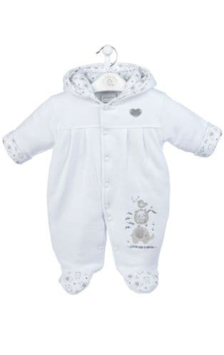 Little Elephant Pramsuit White