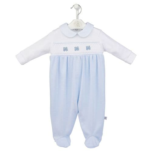 Little Train Smocked Sleepsuit