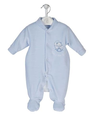 Rock a Bye Velour Sleepsuit B