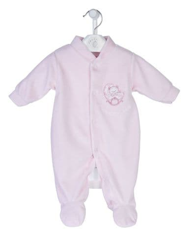 Rock a Bye Velour Sleepsuit P