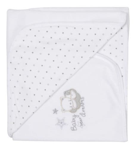 Tiny baby Bear Star Print Cotton Wrap