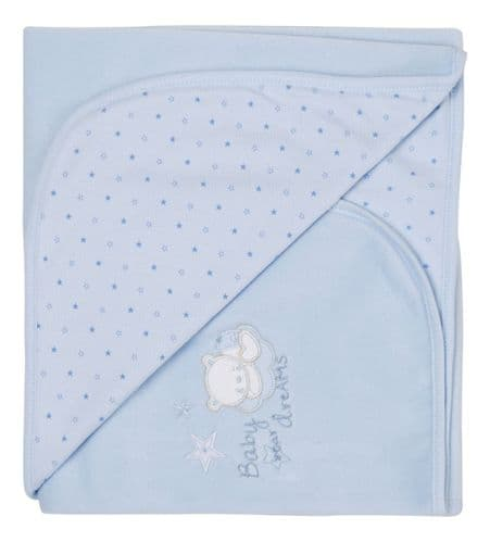 Tiny baby Bear Star Print Cotton Wrap (B)