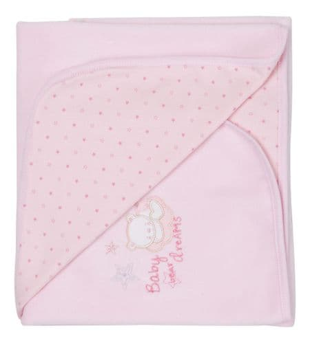 Tiny baby Bear Star Print Cotton Wrap (P)