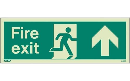 436T/R - FIRE EXIT SIGN UP/FORWARD 120 x 340mm