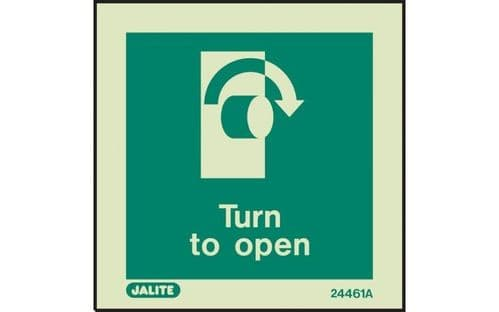4461A/R - TURN TO OPEN SIGN - CLOCKWISE