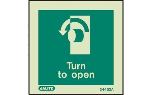 4462A/R - TURN TO OPEN SIGN - ANTI-CLOCKWISE