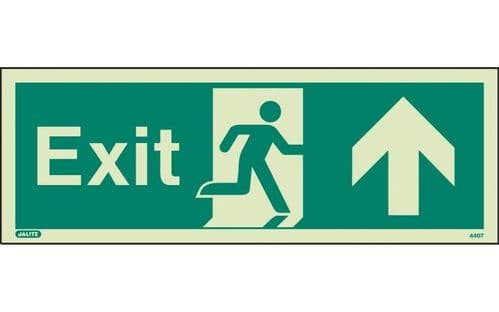 446T/R - EXIT SIGN UP/FORWARDS 120 x 340mm