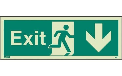 447K/R - EXIT SIGN DOWN 150 x 400mm