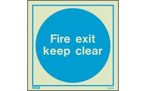 5257E/R - FIRE EXIT KEEP CLEAR SIGN 200 x 200mm