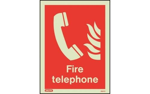 6451D/R - FIRE TELEPHONE LOCATION SIGN 200 X 150mm