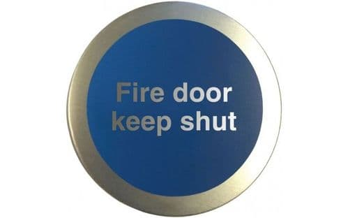 AL54210 - ALUMINIUM FIRE DOOR KEEP SHUT DISC.